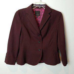 The Limited Burgundy Blazer 3/4 sleeves 2